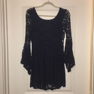 Altar'd State navy blue lace dress